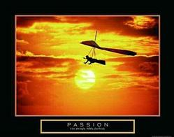 Passion Hang Gliding Poster 28x22