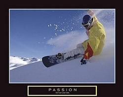 Passion Snowboarding Poster 28x22