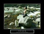 Peace Yoga Poster 28x22