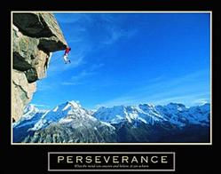 Perseverance Cliff Hanger Poster 28x22