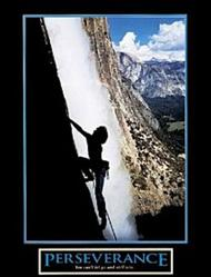 Perseverance Waterfall Poster 22x28