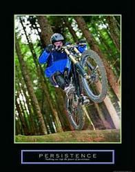 Persistence Biker Poster 22x28