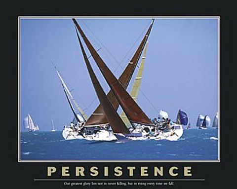 Persistence Quote Poster Persistence Sailboats Poster