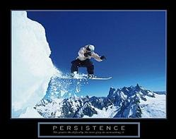 Persistence Snowboarding Poster 28x22