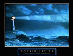 Possibilities Lighthouse Poster 28x22