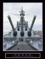 Power Battleship Poster 22x28