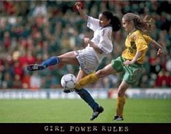 Power Girls Soccer Poster 28x22