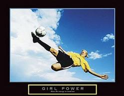 Power Girls Soccer Poster 28x22