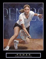 Power Girls Tennis Poster 22x28