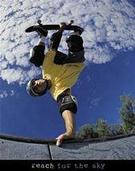 Reach Skateboarding Poster 22x28