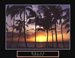Relax Palm Tree Poster 28x22