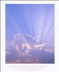 Religious Sun Rays Poster 22x28