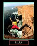 Risk Cliff Diver Poster 1 22x28