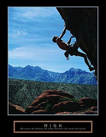 Risk Rock Climber Poster 22x28
