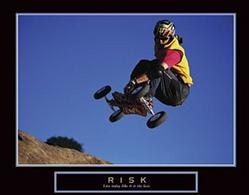 Risk Skateboarder Poster 28x22
