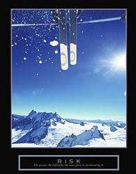 Risk Snow Skier Poster 22x28