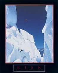 Risk Snow Climber Poster 22x28