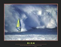 Risk Windsurfer Poster 28x22
