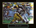 Strive Football Poster 28x22