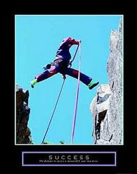 Success Climbing Poster 22x28