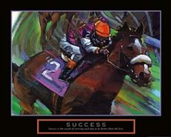 Success Horse Jockey Poster 28x22