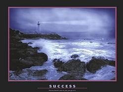 Success Lighthouse Poster 28x22