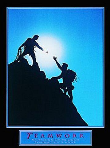 Teamwork Climbers 1 Poster 22x28