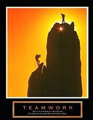 Teamwork Climbers Poster 2 22x28
