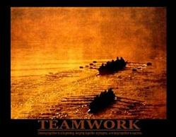 Teamwork Rowing Poster 2 28x22