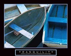 Tranquility Boats Poster 28x22
