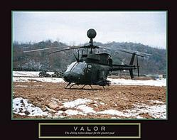 Valor Helicopter Poster 28x22