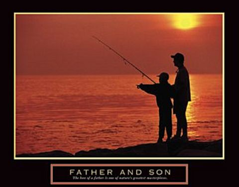 Father and son fishing quotes quotesgram for Inspirational fishing quotes