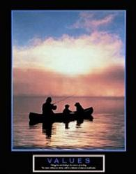 Values Father & Son Fishing Poster 22x28