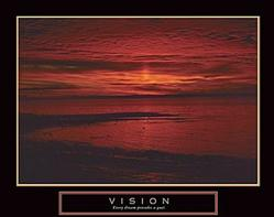 Vision Crimson Morning Poster 28x22