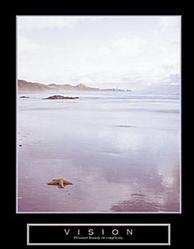 Vision Foggy Beach Poster 22x28