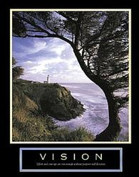 Vision Lighthouse Poster 22x28