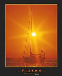 Vision Sailboat Poster 22x28