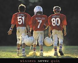 Winners Football Poster 28x22