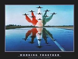Working Together Military Jets Poster 28x22