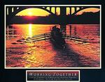 Working Together Rowers Poster 28x22
