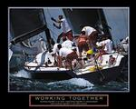 Working Together Sailboat Poster 28x22
