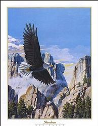 Freedom Eagle in Flight Poster 22x28