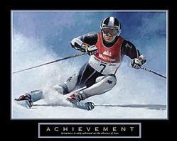 Achievement Skier Poster 28x22