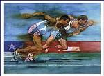 Olympic Running Poster 28x22