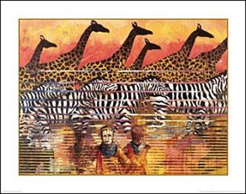Serengeti Serenade I John Dawson African American Art Print 28x22