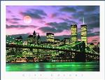 NY City Skyline Poster 28x22