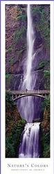 Bridge and Waterfall Poster 12x36