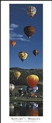 Hot Air Balloons Poster 12x36