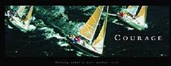 Courage Sailboats Poster 36x12