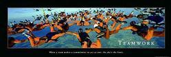 Teamwork Skydivers Poster 36x12